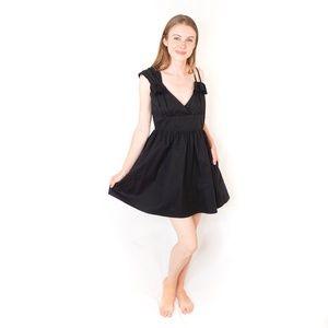 MOSSMAN Black Mini Dress Australian Designer 0322
